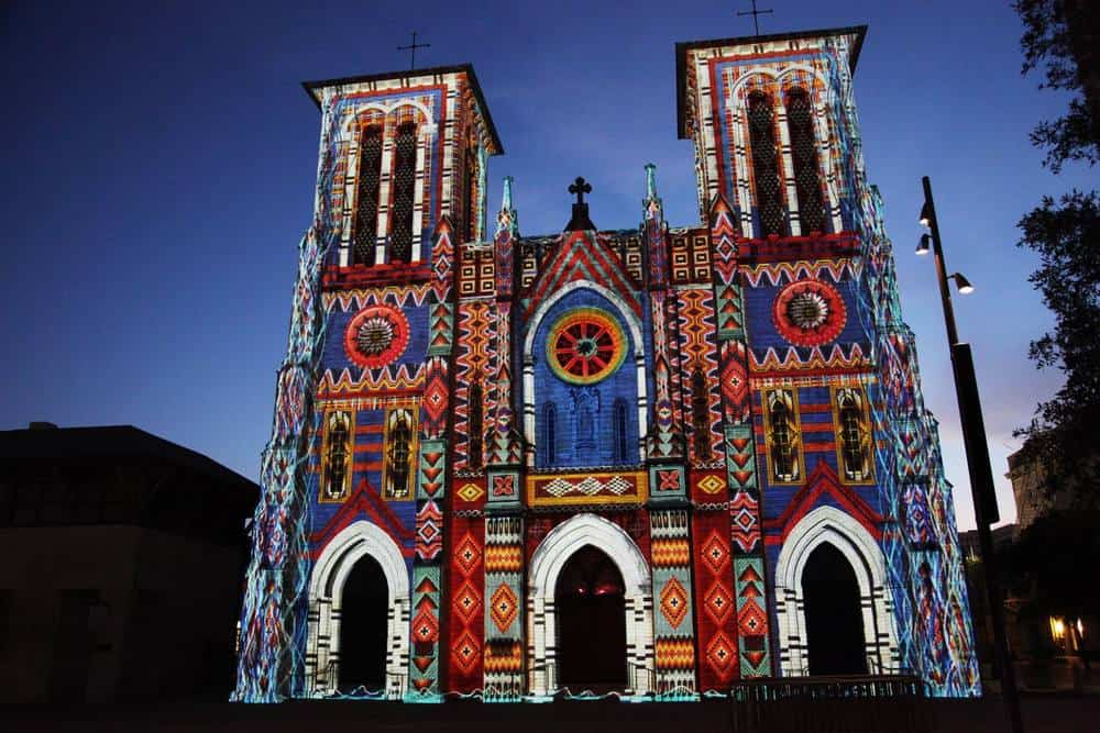Main Plaza Cathedral Light Show