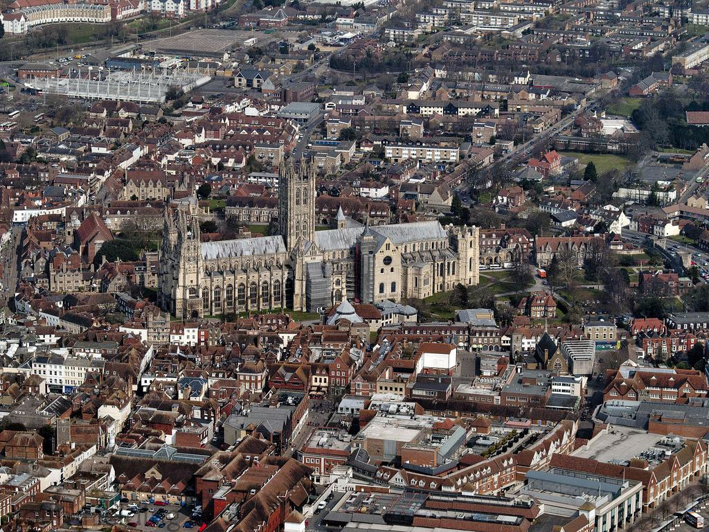 Canterbury Cathedral from above