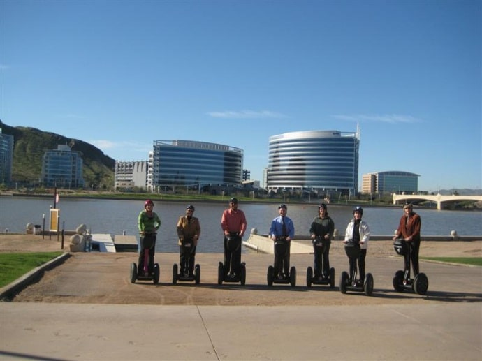 Segway down Tempe Lake