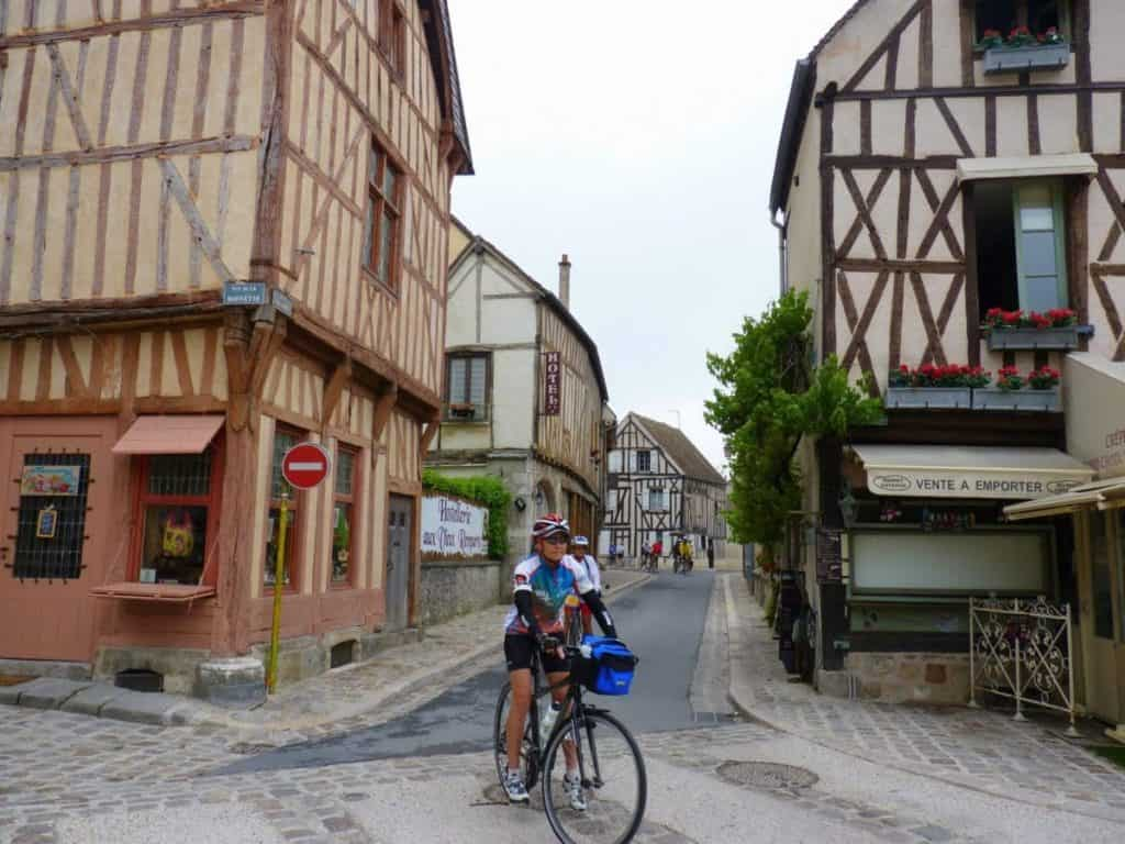 centre of Troyes cycling