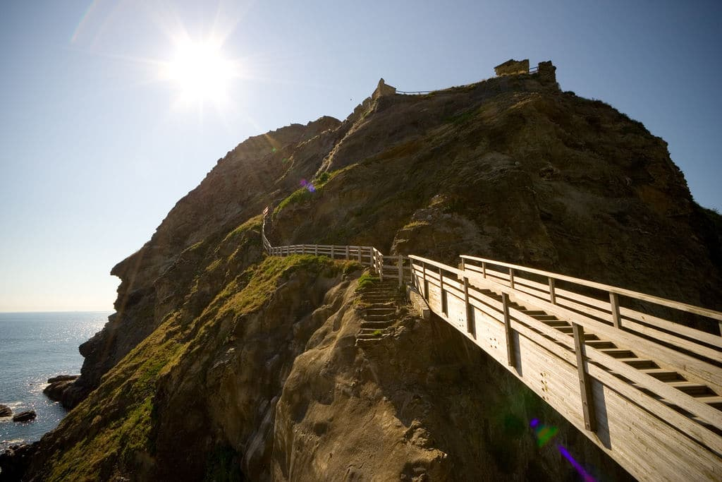 Stairway to Tintagel Castle
