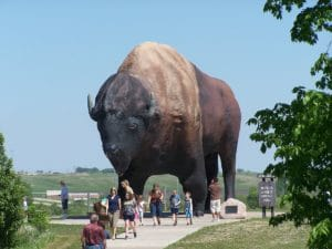 Bison Monument and Frontier Village