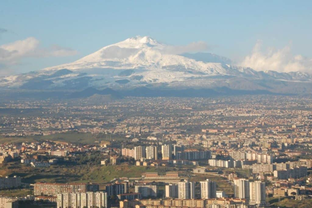 Mount Etna and Catania