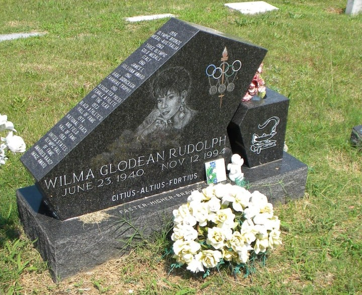 Grave of Wilma Rudolph