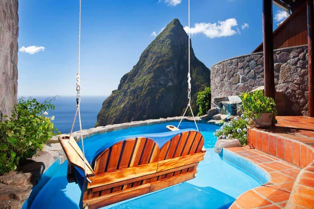 15 best resorts in st lucia the crazy tourist. Black Bedroom Furniture Sets. Home Design Ideas