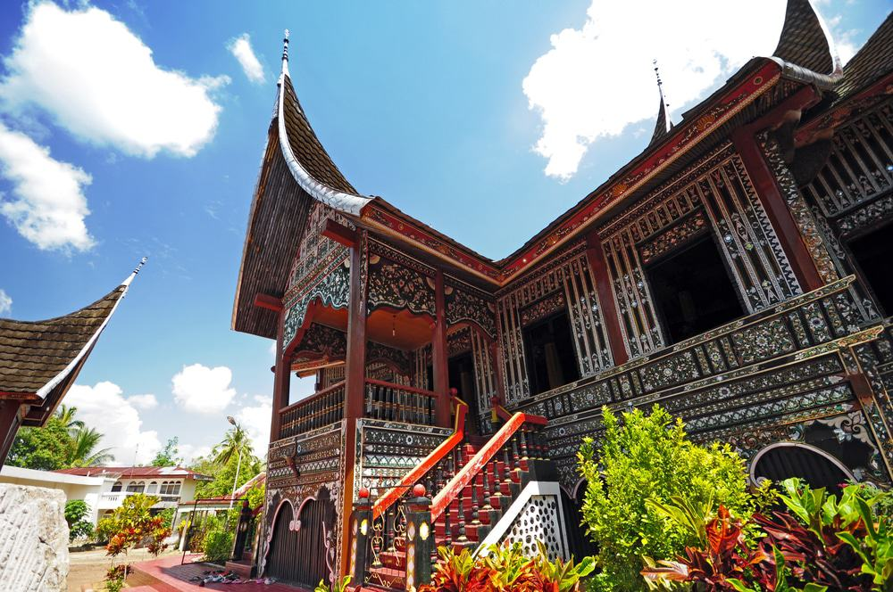 Rumah Gadang Or Big House In Padang, West Sumatra