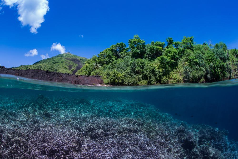 The Lava Flow Dive Site In Banda Island