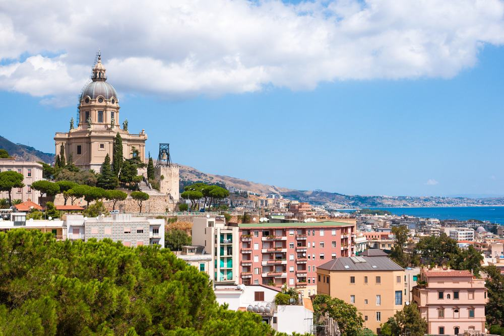 Aerial view of Messina