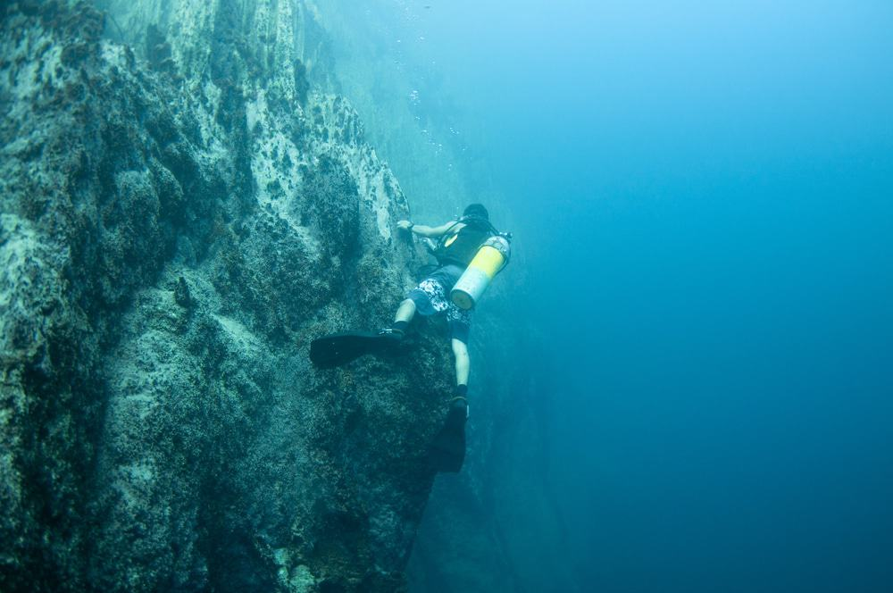 Underwater Mountains in Barracuda Lake