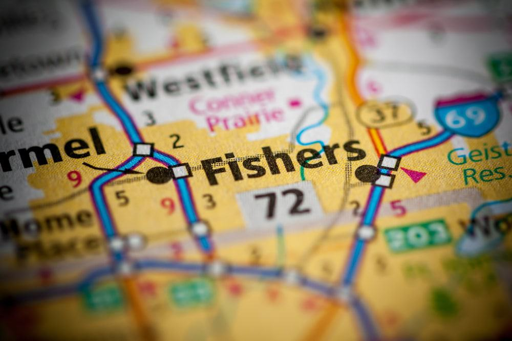 Fishers, Indiana on Map