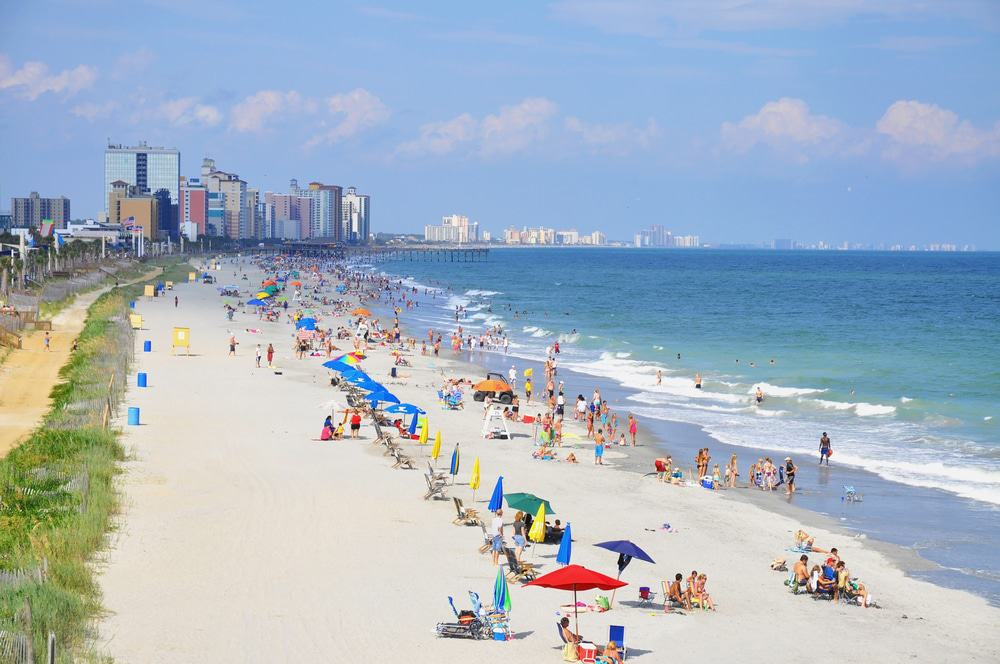 15 Best Beaches in South Carolina - The Crazy Tourist Charleston Sc Beaches Map on