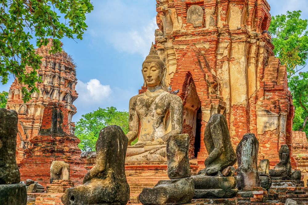 at Mahathat temple, Ayutthaya