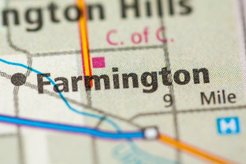 Farmington, Michigan on Map