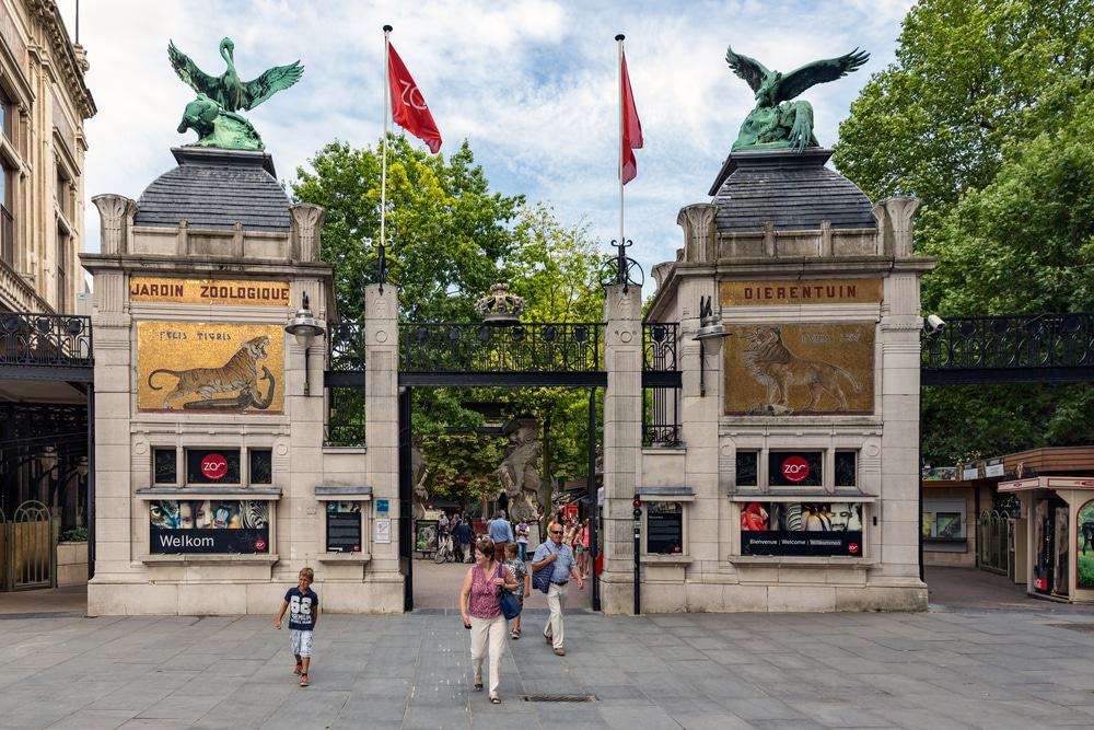 Entrance of the Antwerp Zoo