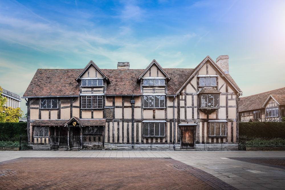 William Shakespeare birthplace in Stratford Upon Avon