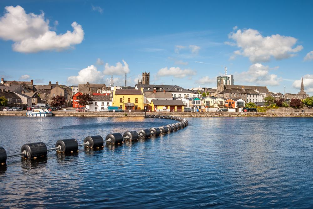 Athlone town and Shannon river, Ireland