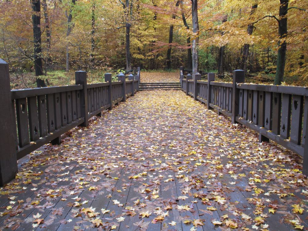 : Seven bridges walking path in grant park milwaukee wisconsin