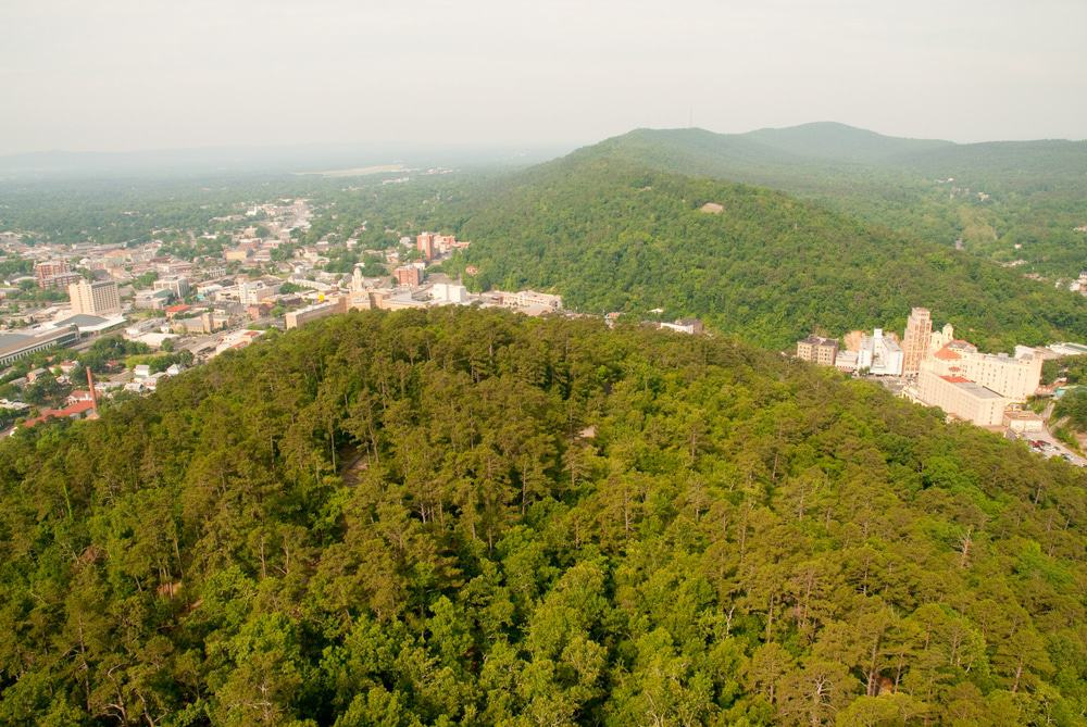 View Of Hot Springs, Arkansas From The Hot Springs Mountain Tower