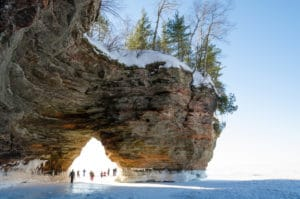 Apostle Islands National Lakeshore on Lake Superior in northern Wisconsin