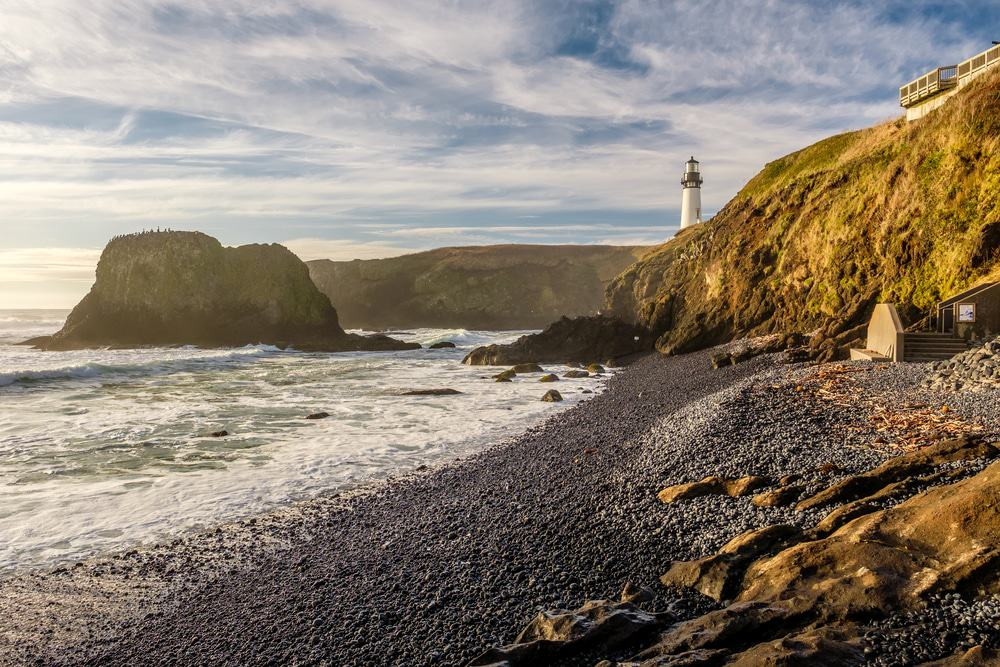 Yaquina Head Light and Cliffs