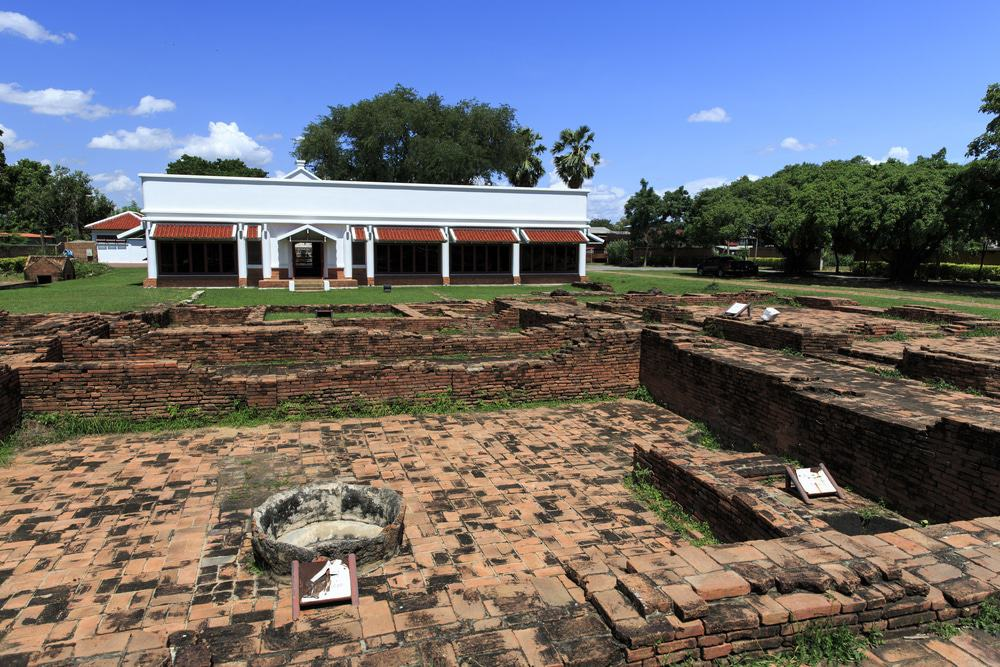 Portuguese village, the ruins of the old settlement in Ayutthaya, Thailand