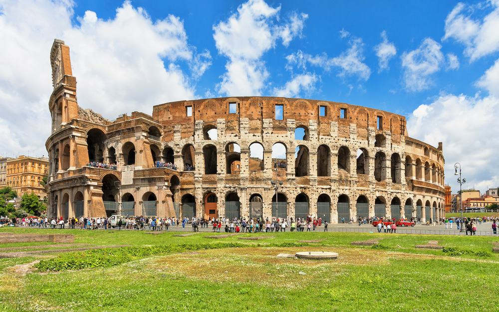 Colosseum (Coliseum) In Rome, Italy.