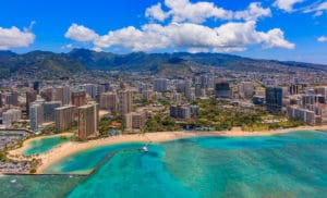 Honolulu from a Helicopter