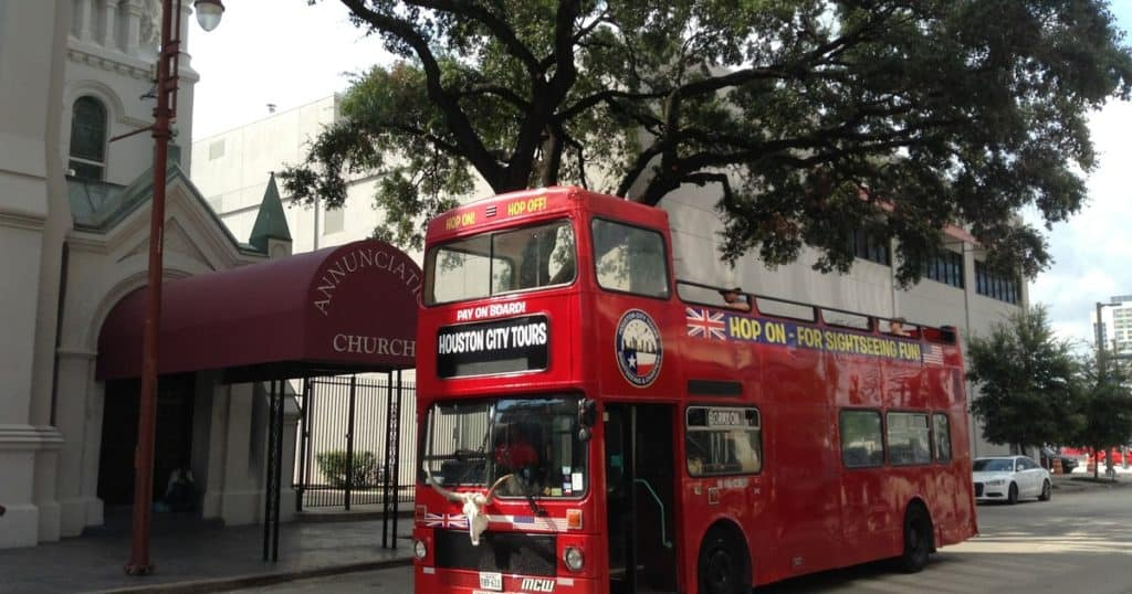 Double Decker Bus, Houston, Texas