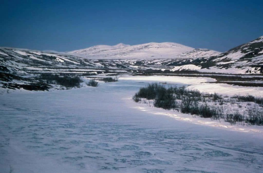 Kisaralik River in Winter