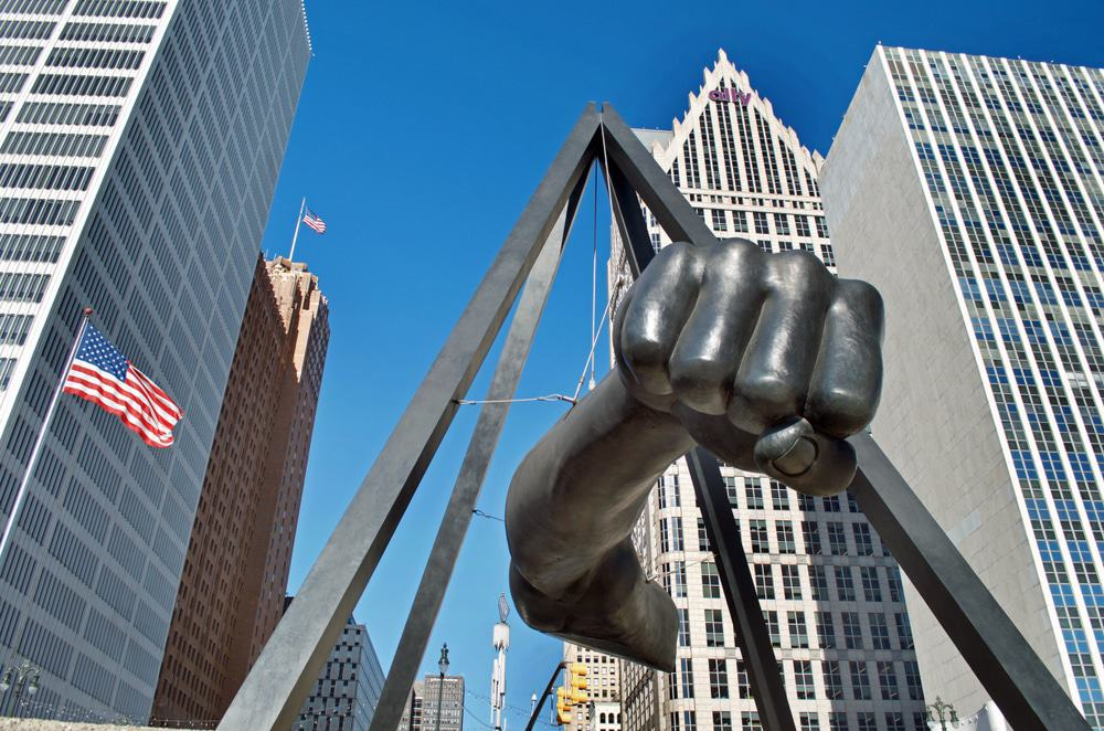 Joe Louis Monument, Detroit