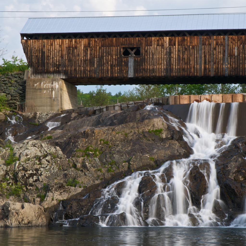 East Willard Twin Covered Bridge And Waterfall
