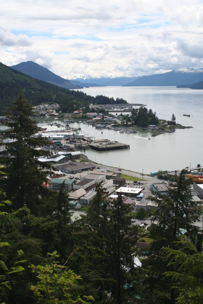 Wrangell Alaska from Mt. Dewey Overlook