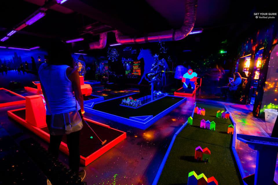 Glow Golf Mini Golf Game By UV Light
