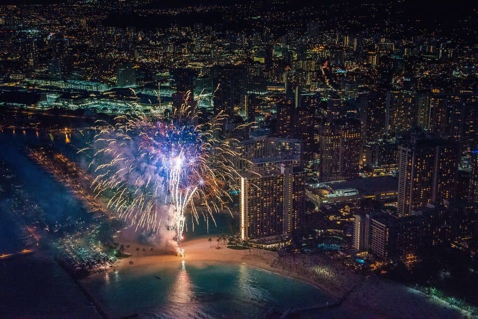 Night Lights & Fireworks Helicopter Tour