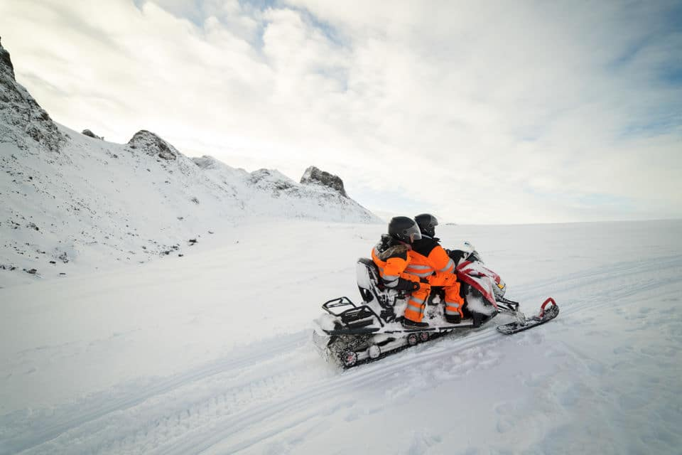 Snowmobile & Natural Ice Cave Tour