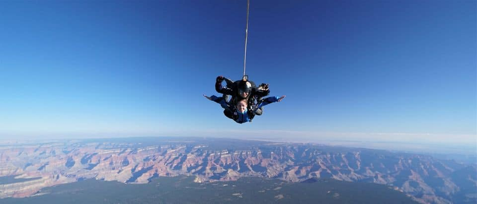 Tandem Skydive At The Grand Canyon