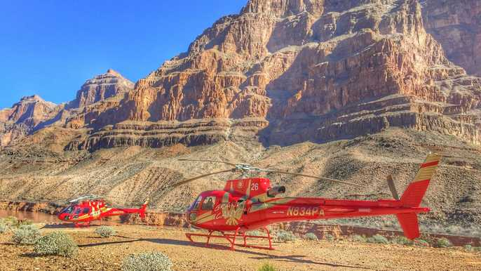 Grand Canyon West Rim: Skywalk, Helicopter & Boat Options