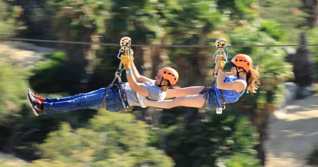Zip Line in Wild Canyon