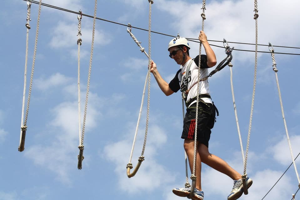 High Ropes Adventure Park In Charleston