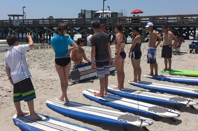 Surf Lessons With Board
