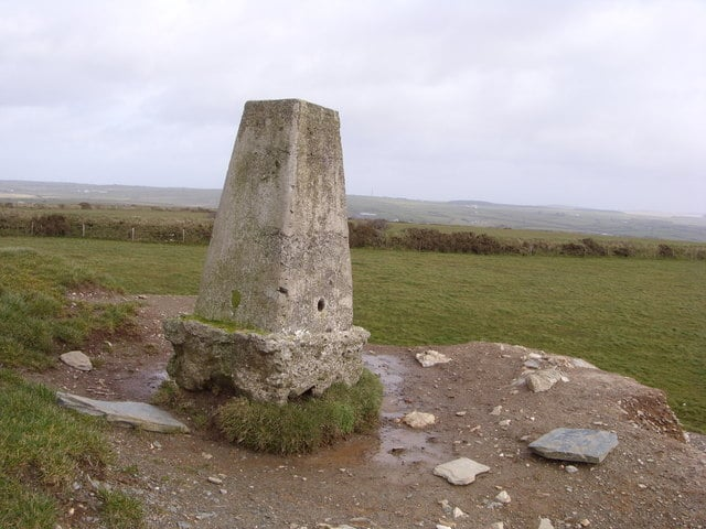 Ordnance Survey Trig Point on Condolden Hill