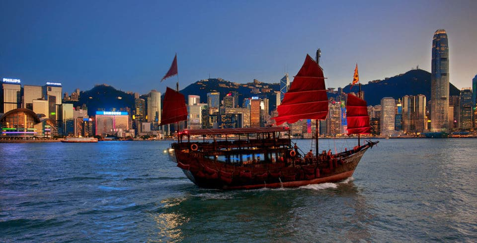 Evening Cruise Tour In Chinese Junk Boat With Wine