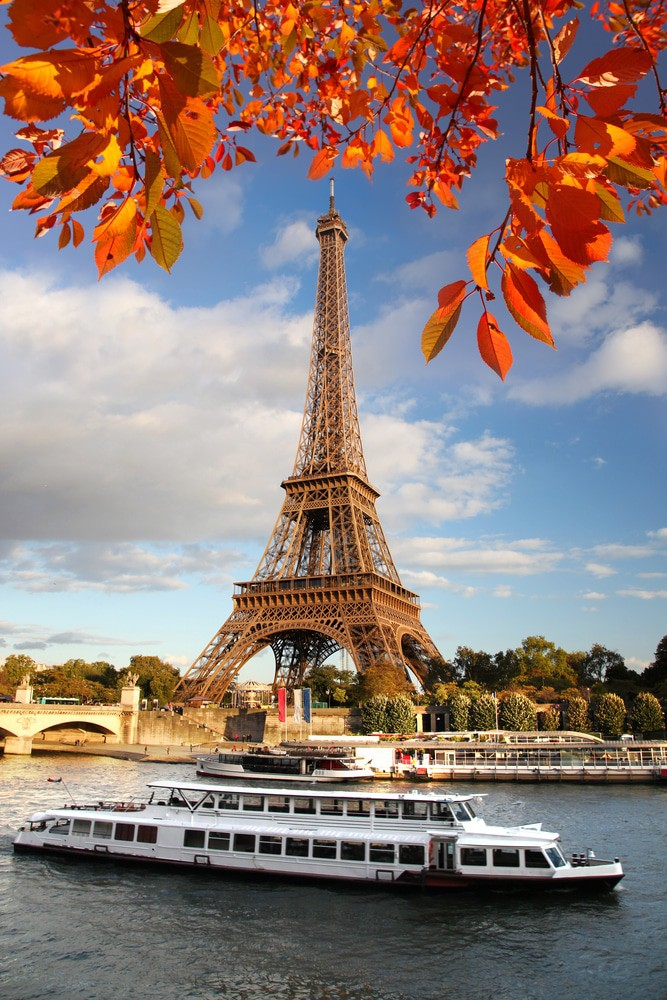 Seine River and Eiffel Tower in Autumn