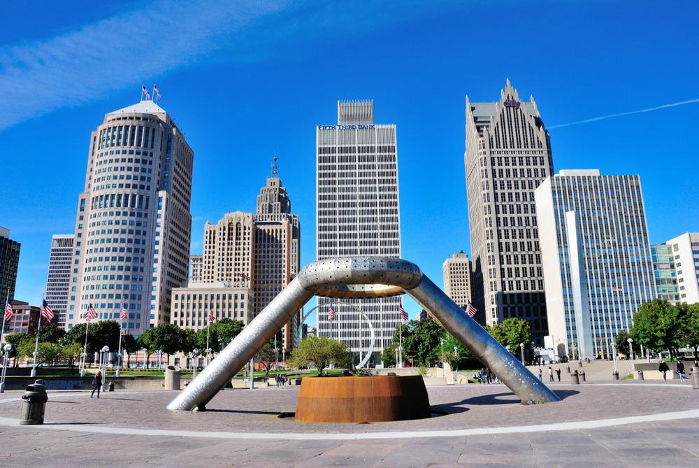 Hart Plaza in Downtown Detroit,