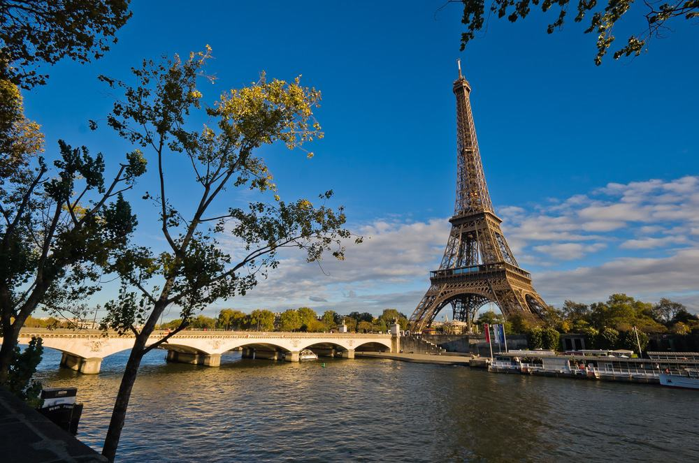 Eiffel Tower and Seine River