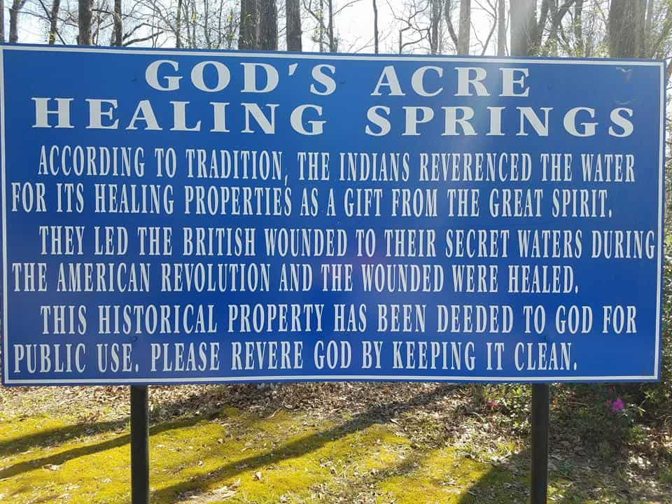 God's Acre Healing Springs, Blackville