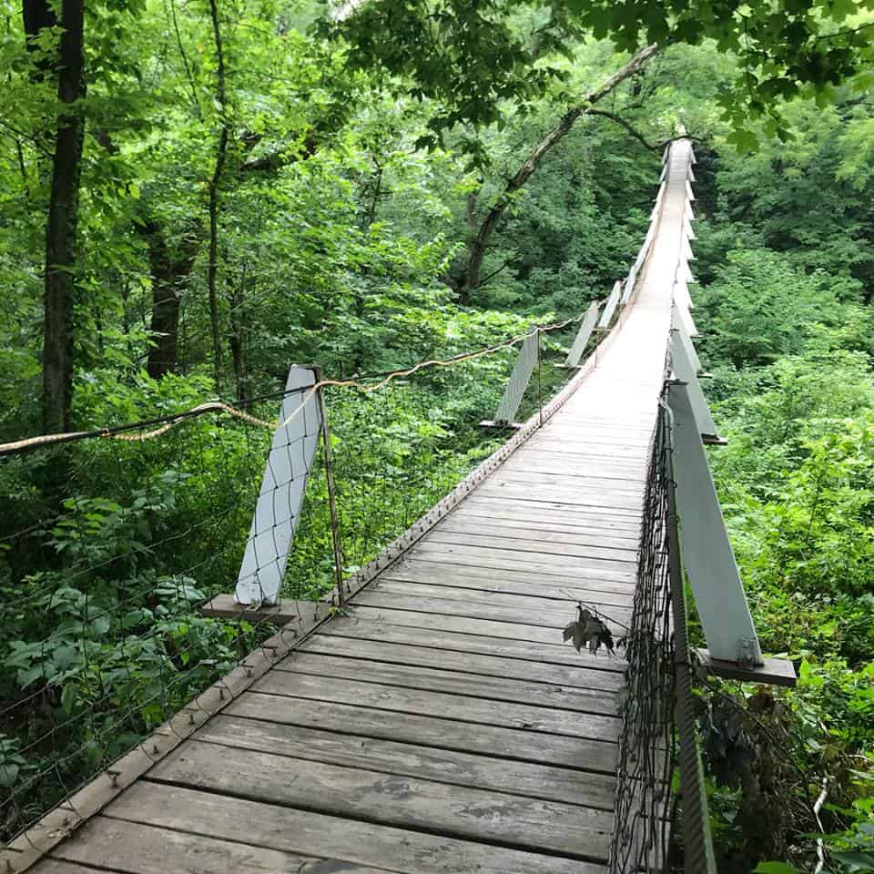 Lover's Leap Swinging Bridge, Columbus Junction