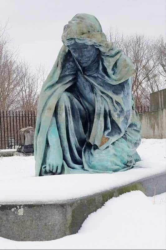 The Blue Lady Of Yantic Cemetery, Norwich