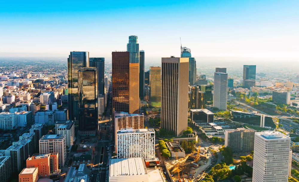 Aerial View of Dowtown Los Angeles