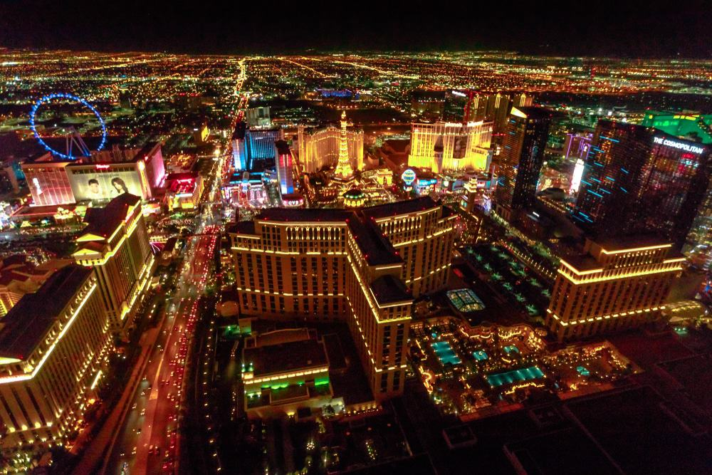 Vegas Strip by Helicopter